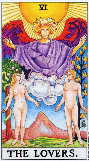 The Lovers - Waite-Smith Tarot
