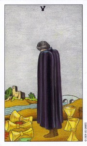five of cups - waite mini - menor