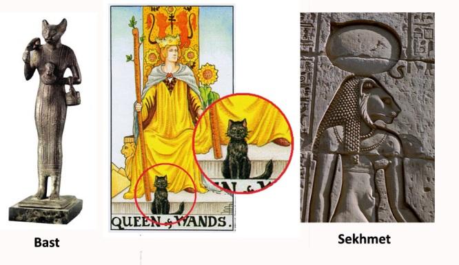 O Gato da Rainha de Paus - mais Deusas egípcias