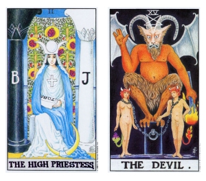 The High Priestess & The Devil - Five of Cups post